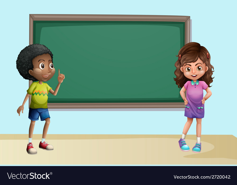 Children in classroom vector | Price: 1 Credit (USD $1)