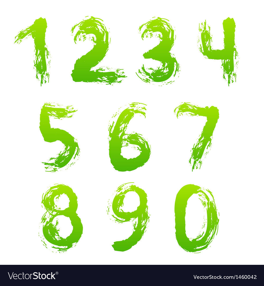 Collection of painted numbers vector | Price: 1 Credit (USD $1)