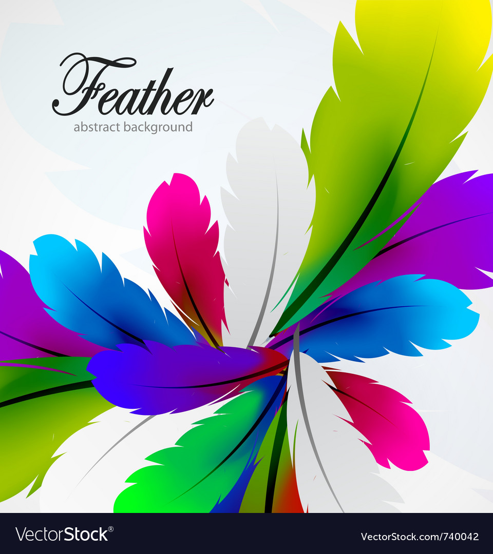 Colorful feather background vector | Price: 1 Credit (USD $1)