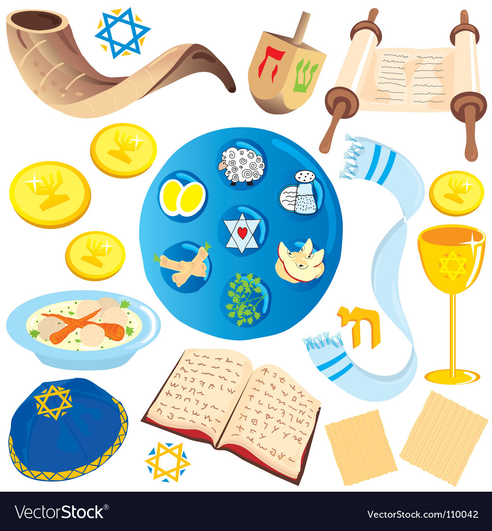 Jewish icons vector | Price: 3 Credit (USD $3)