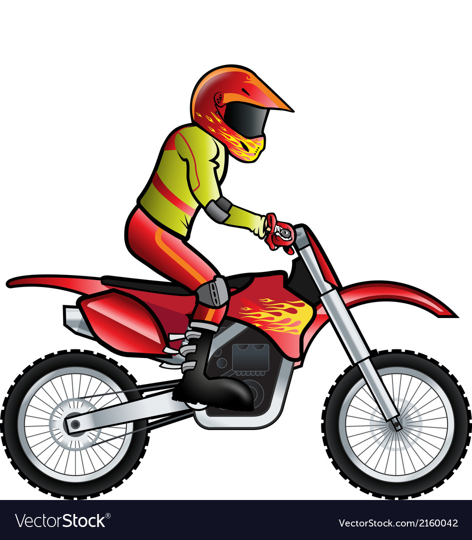 Motorcross rider vector | Price: 1 Credit (USD $1)