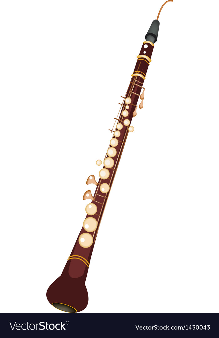 A musical cor anglais isolated on white background vector | Price: 1 Credit (USD $1)