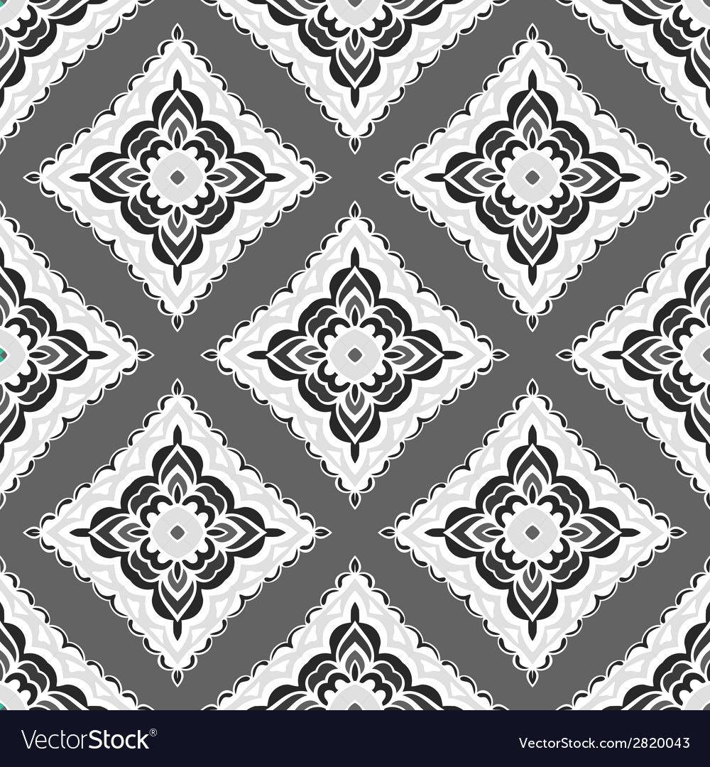 Abstract seamless folkloric ornamental design vector | Price: 1 Credit (USD $1)