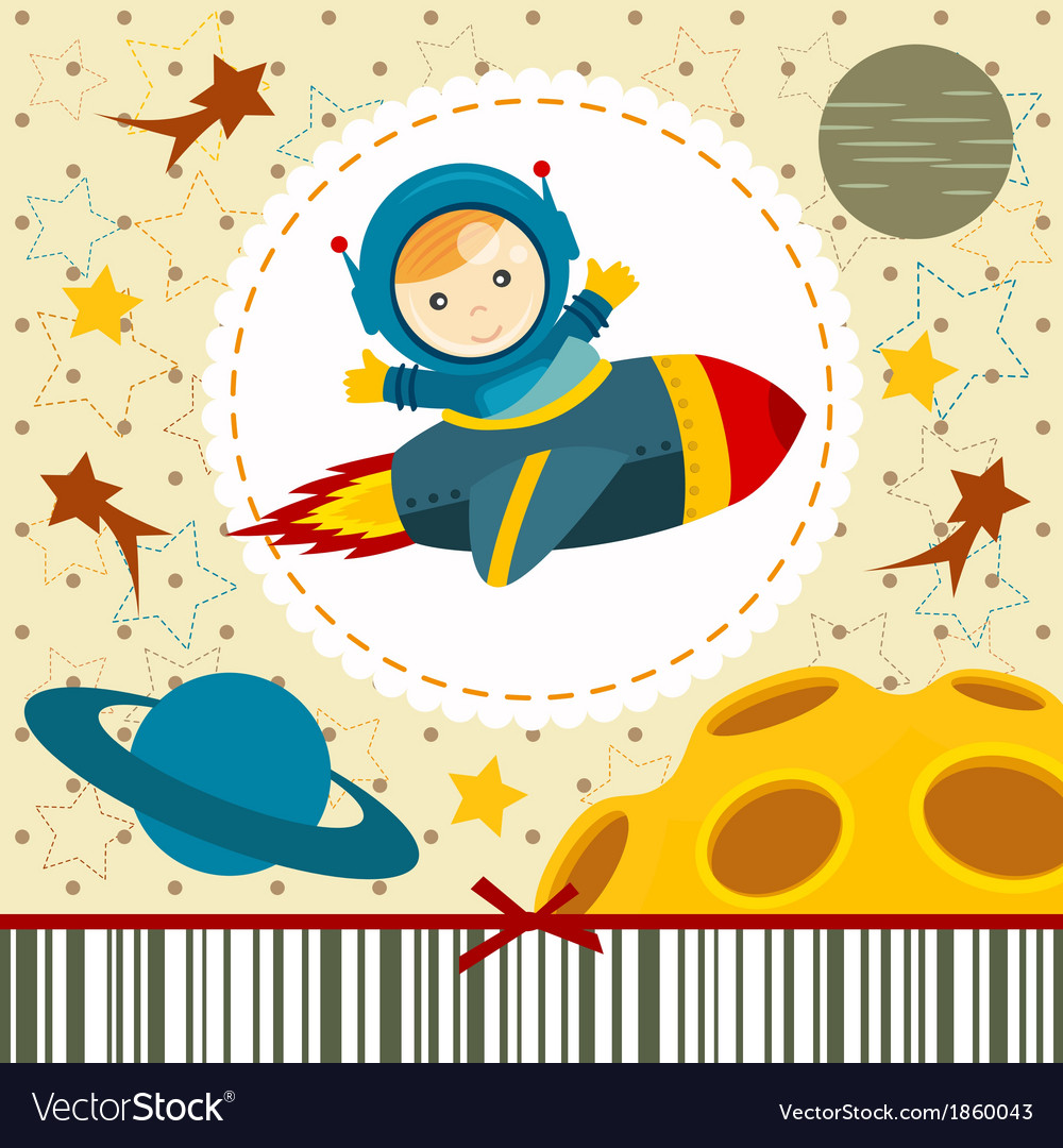 Baby boy astronaut vector | Price: 1 Credit (USD $1)
