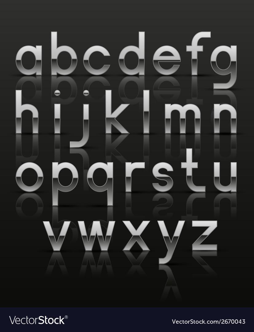 Decorative silver alphabet vector | Price: 1 Credit (USD $1)