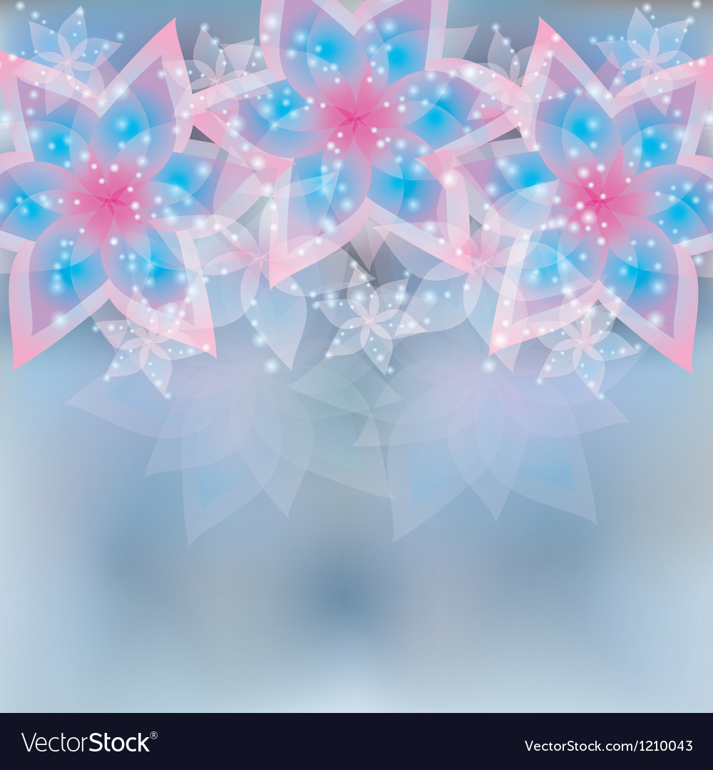 Floral light background greeting or invitation vector | Price: 1 Credit (USD $1)