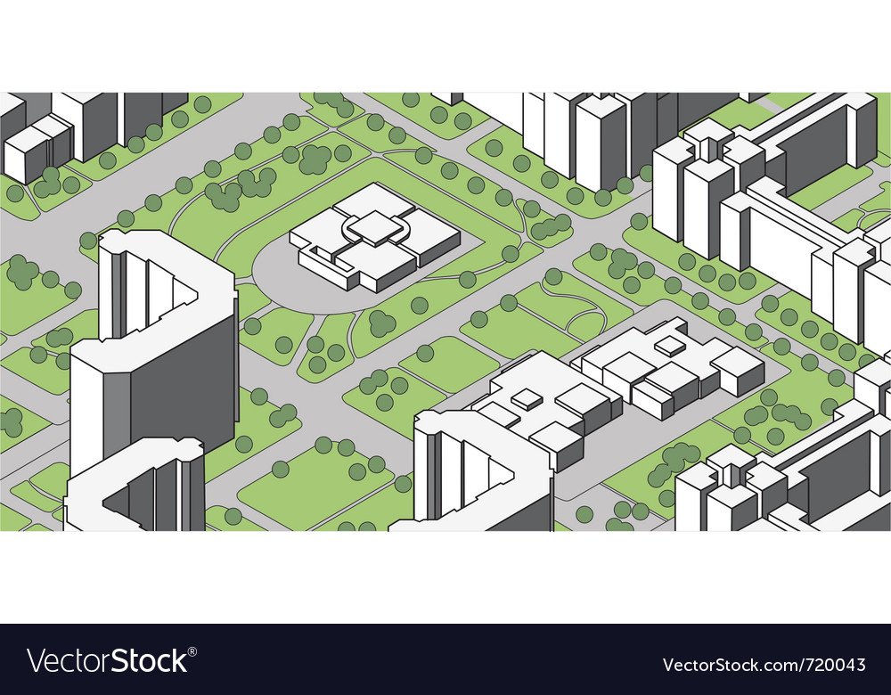 Housing estate vector | Price: 1 Credit (USD $1)