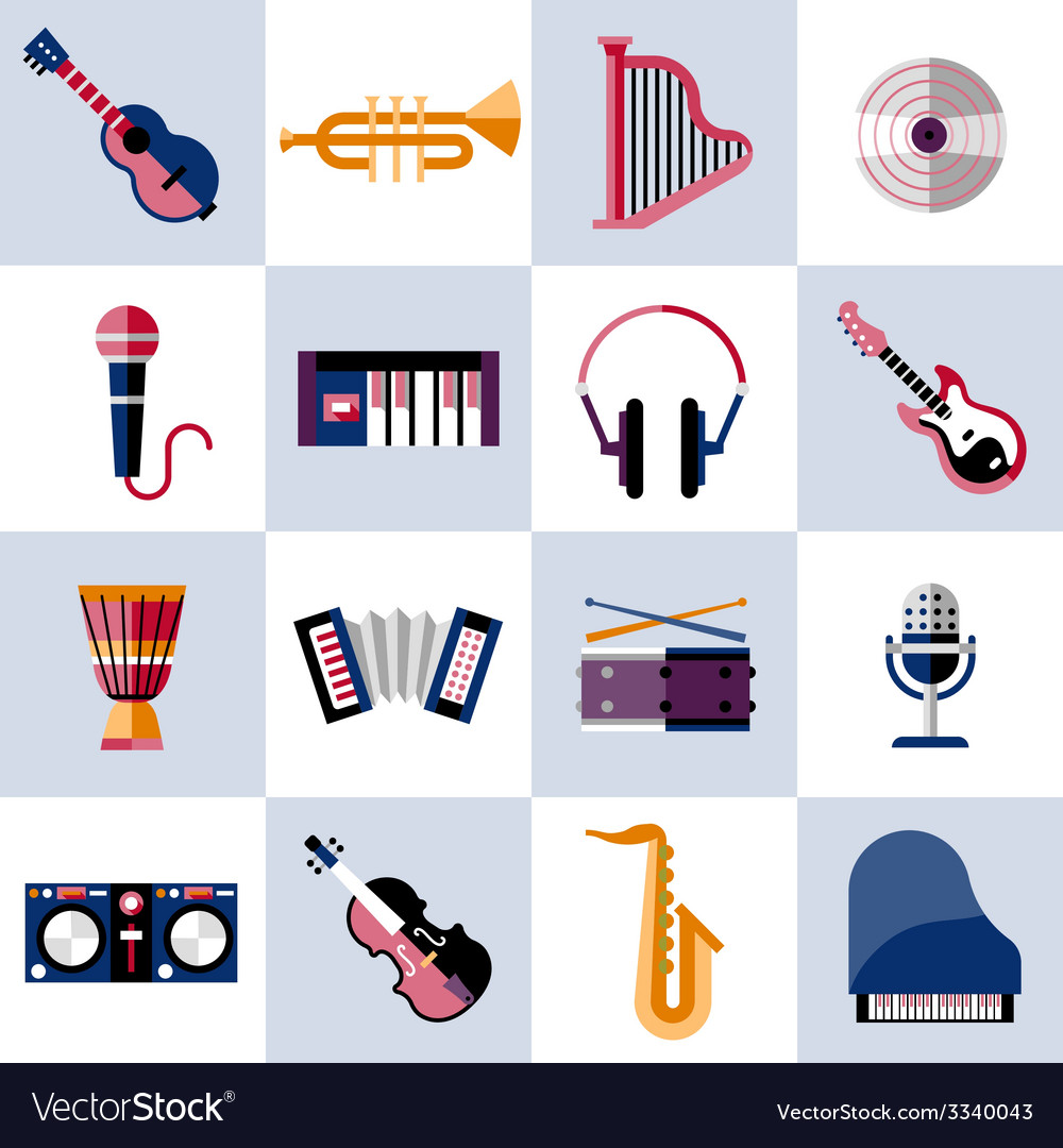 Musical instruments set vector | Price: 1 Credit (USD $1)