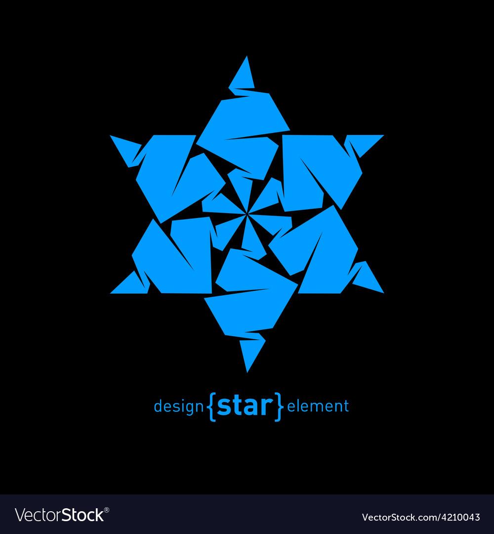 Pseudo volume origami david star design element vector   Price: 1 Credit (USD $1)