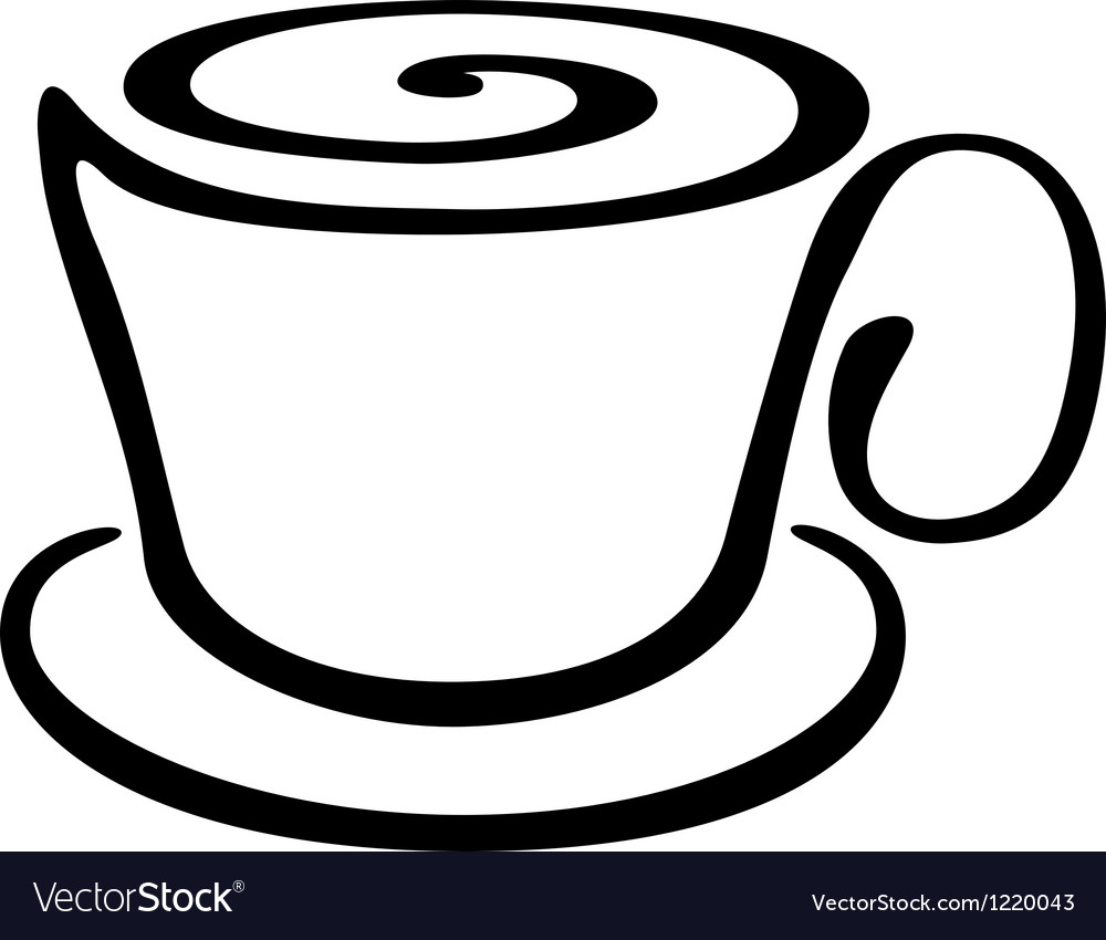 Stylized cup of coffee or tea vector | Price: 1 Credit (USD $1)