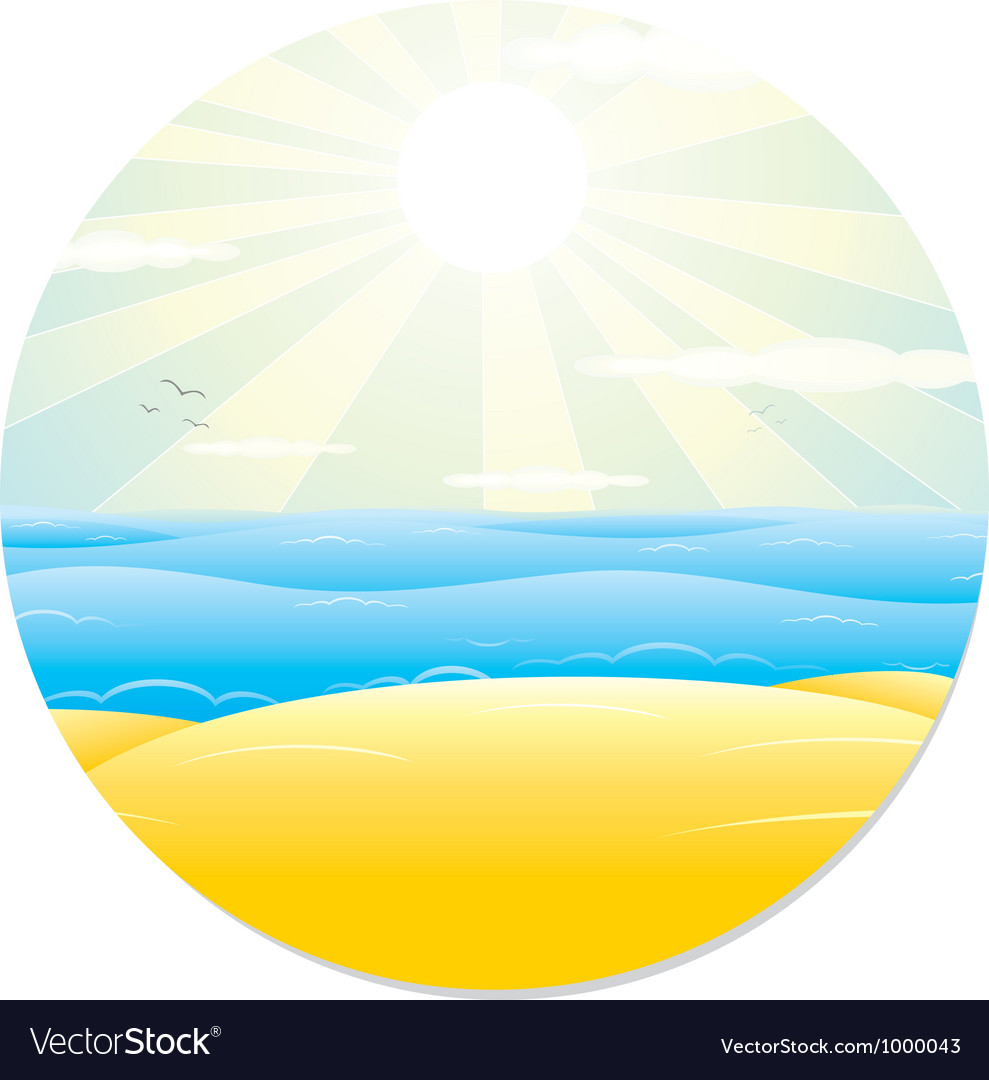 Summer tropical landscape vector | Price: 1 Credit (USD $1)