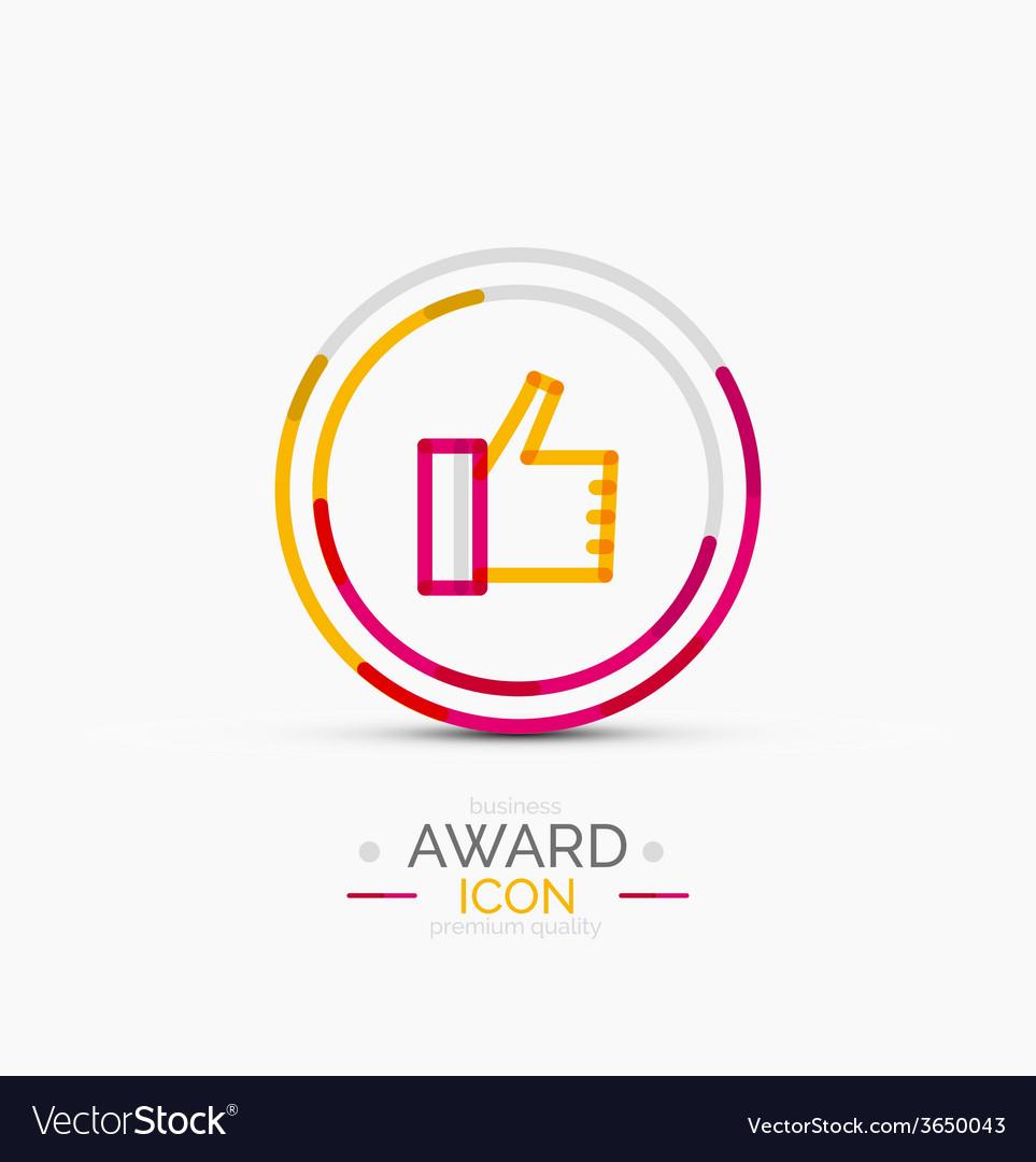 Thumb up icon logo design vector | Price: 1 Credit (USD $1)