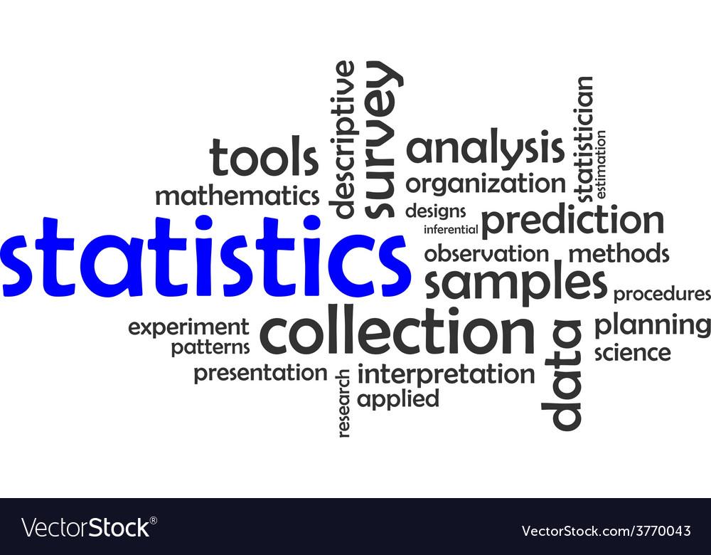 Word cloud statistics vector | Price: 1 Credit (USD $1)