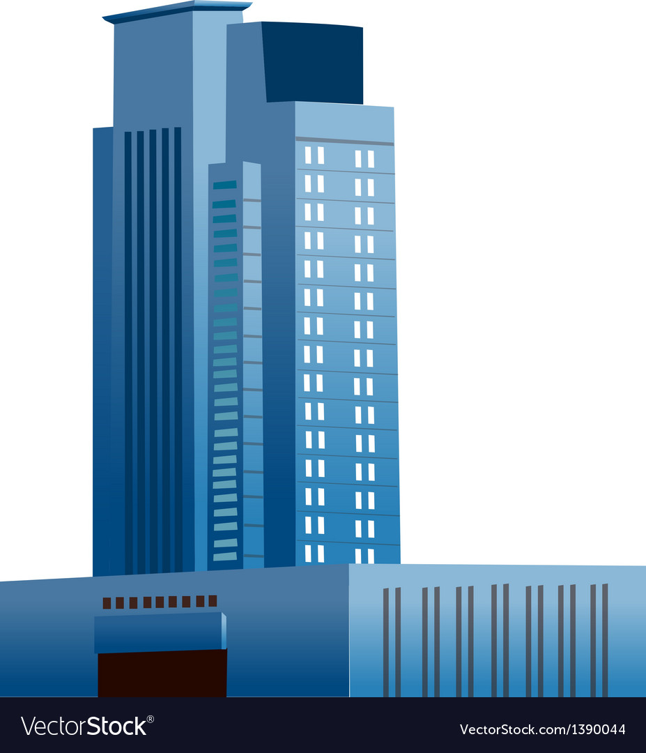 A view of a building vector | Price: 1 Credit (USD $1)