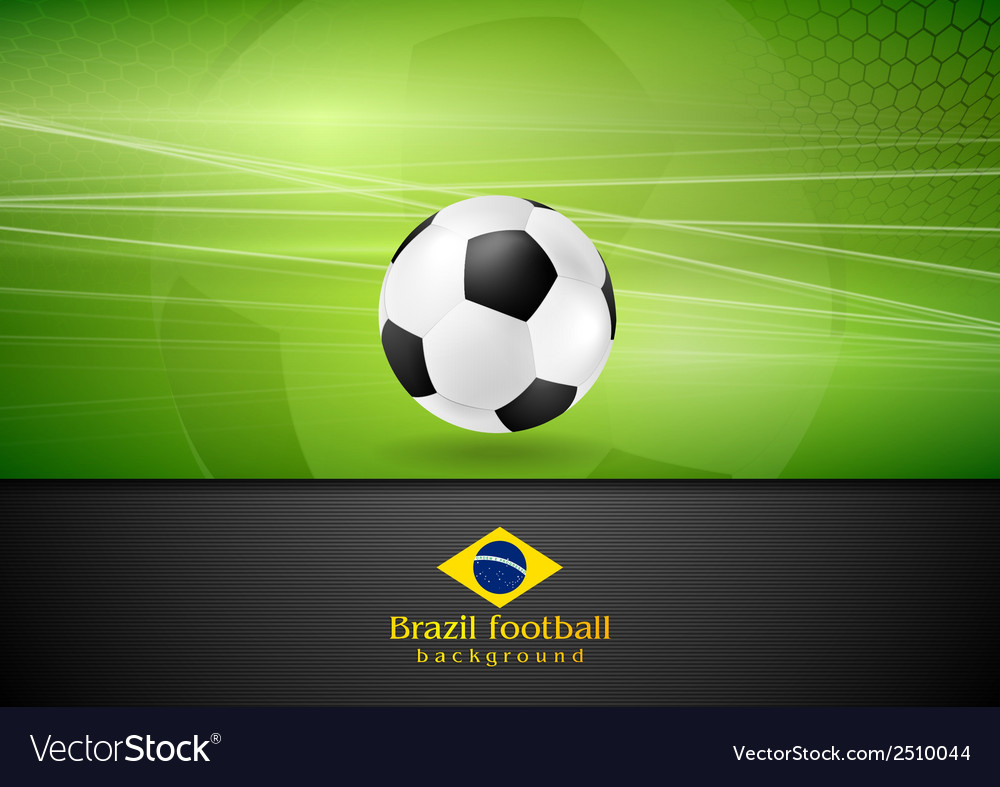 Abstract football background with soccer ball vector | Price: 1 Credit (USD $1)