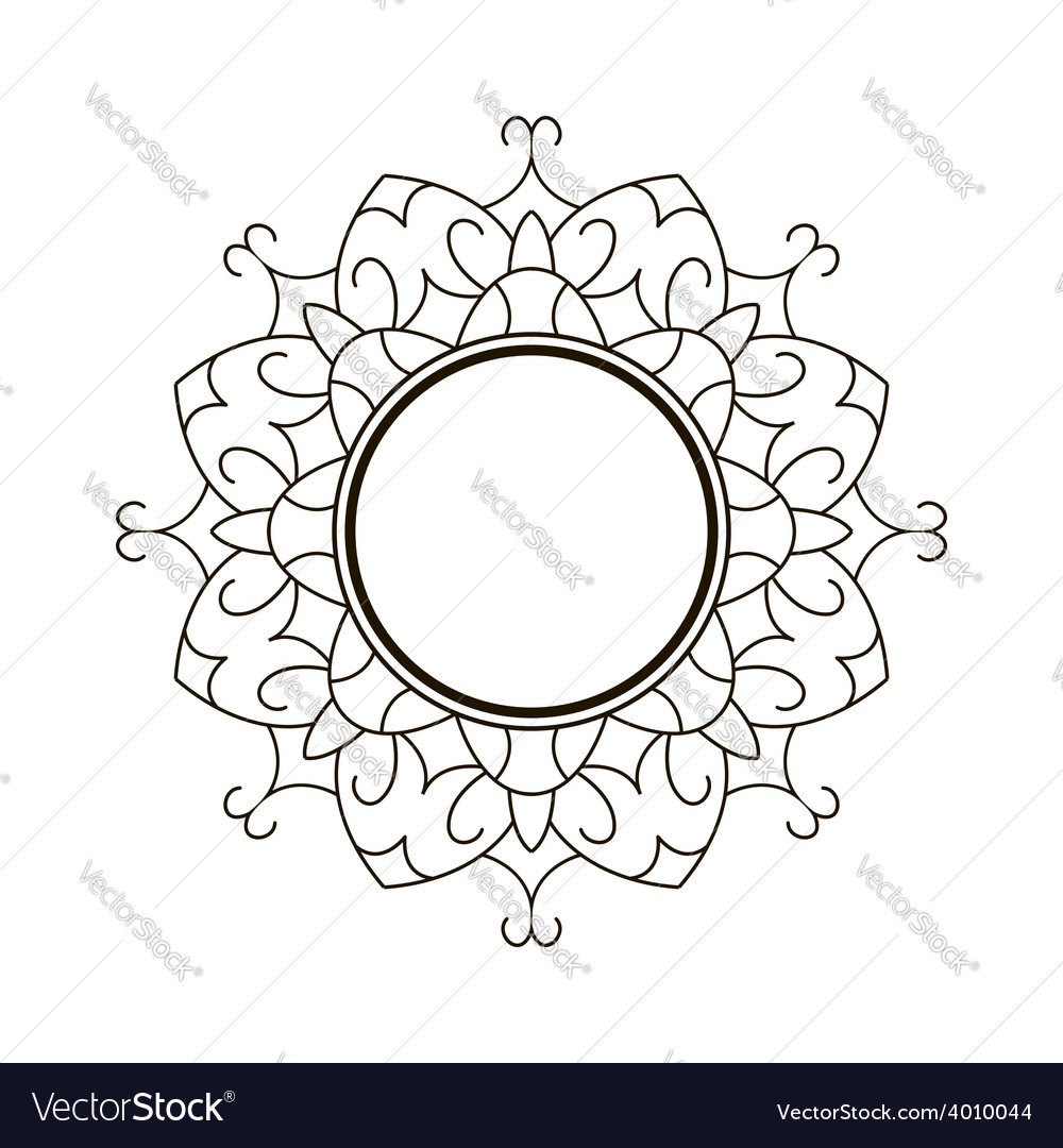 Black round frame vector | Price: 1 Credit (USD $1)