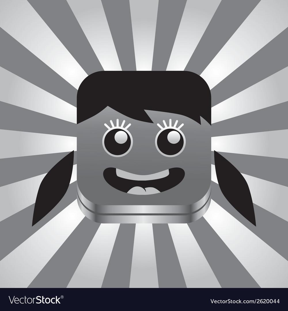 Cartoon head vector | Price: 1 Credit (USD $1)