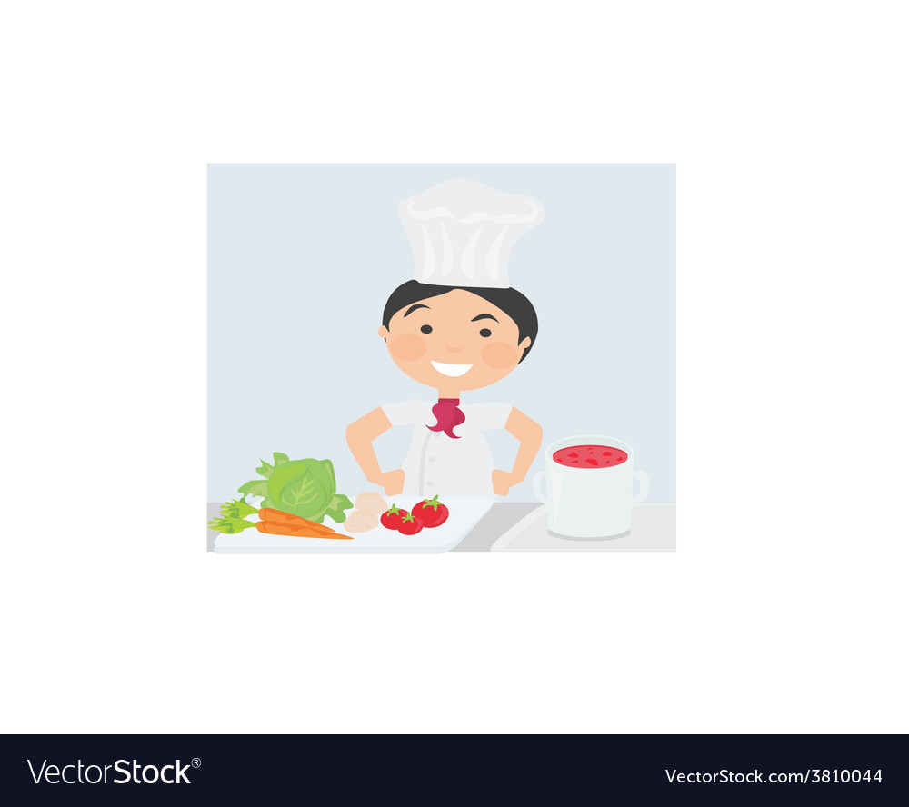 Cook cooking on the kitchen vector   Price: 1 Credit (USD $1)