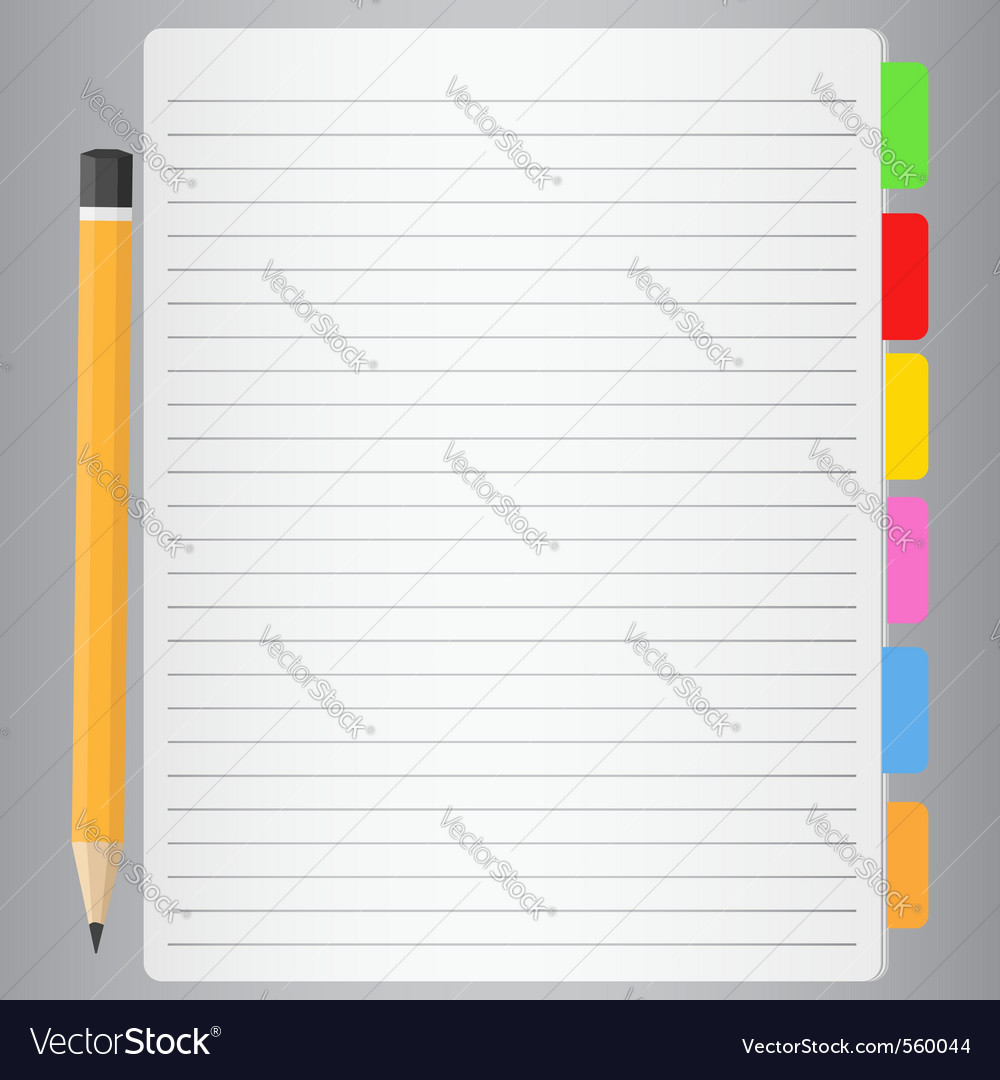 Lined paper vector | Price: 1 Credit (USD $1)