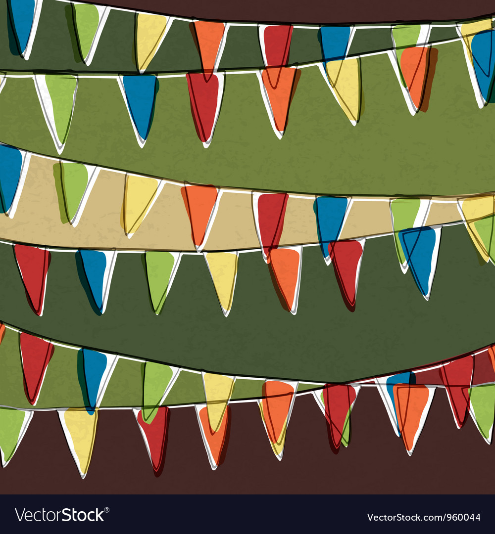 Party bunting background vector | Price: 1 Credit (USD $1)