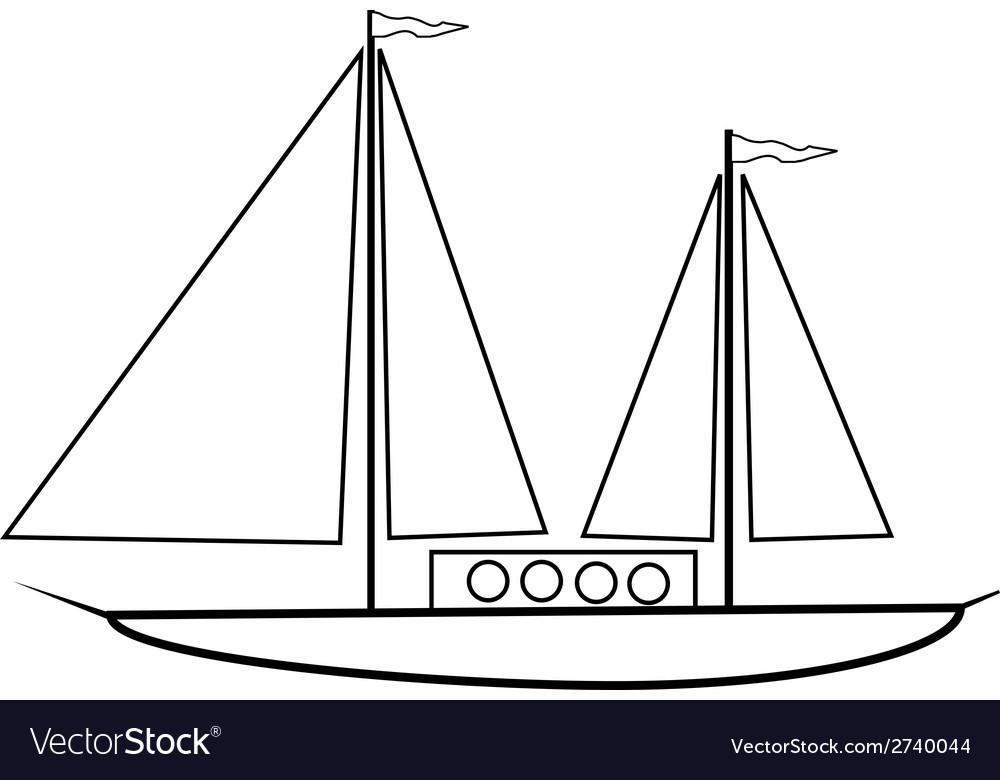 Sailing ship icon vector | Price: 1 Credit (USD $1)
