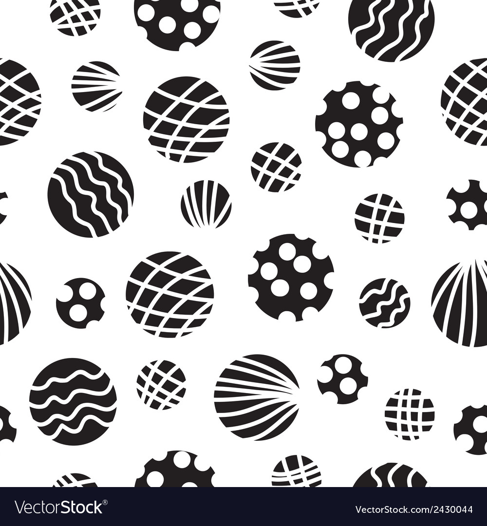 Seamless background with circles vector | Price: 1 Credit (USD $1)