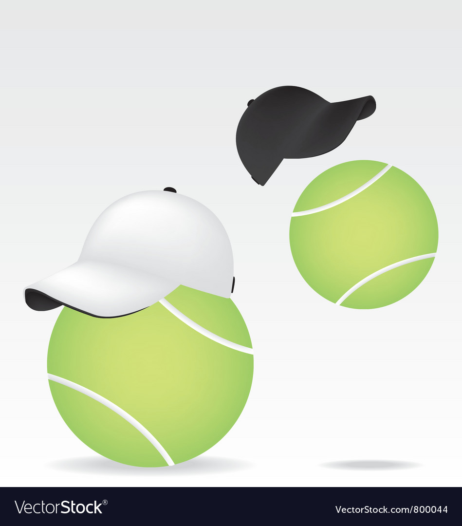 Tennis ball and cap vector | Price: 1 Credit (USD $1)