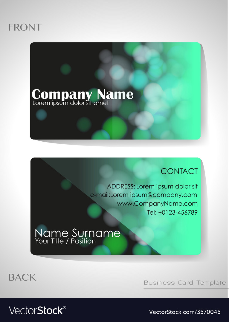 A gradient colored business card vector | Price: 1 Credit (USD $1)