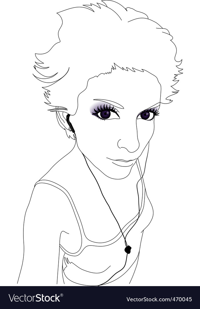 Cool girl vector | Price: 1 Credit (USD $1)