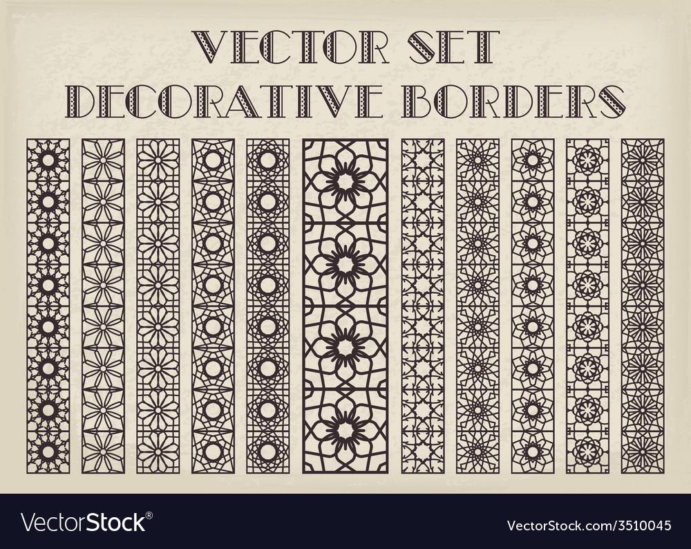 Decorative borders vector | Price: 1 Credit (USD $1)