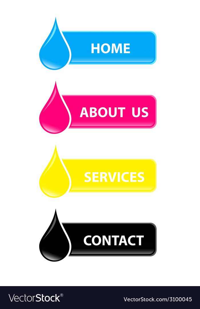 Drop cmyk web buttons vector | Price: 1 Credit (USD $1)