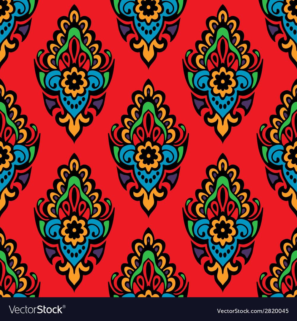 Festive seamless floral pattern vector | Price: 1 Credit (USD $1)