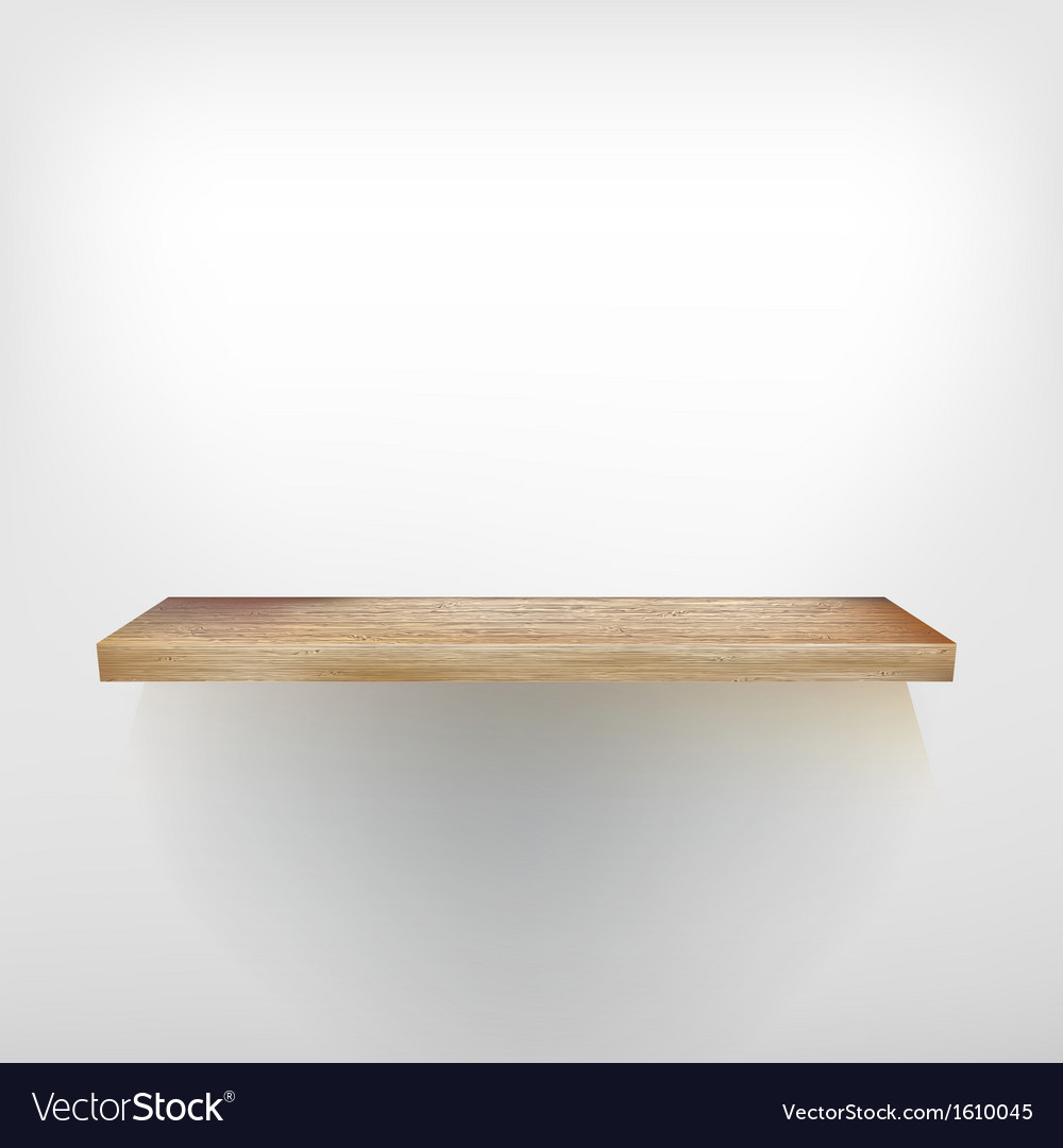 Isolated empty shelf for exhibit  eps10 vector | Price: 1 Credit (USD $1)