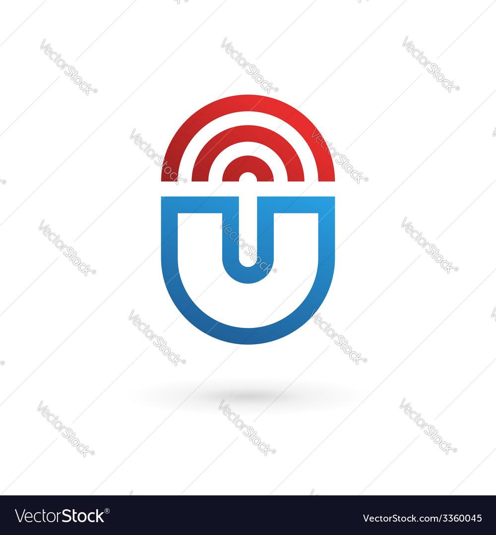 Letter u wireless logo icon design template vector | Price: 1 Credit (USD $1)