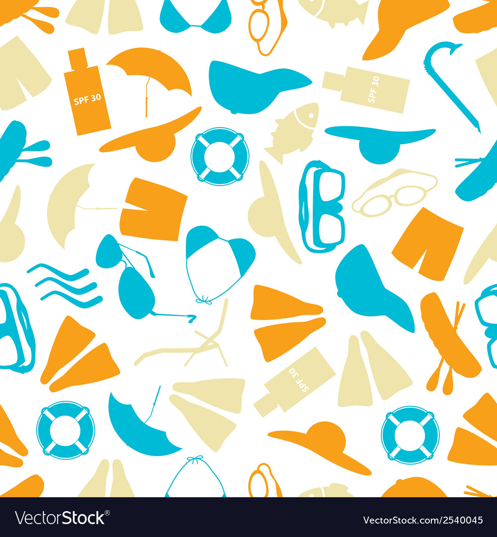 Summer and beach color pattern eps10 vector | Price: 1 Credit (USD $1)