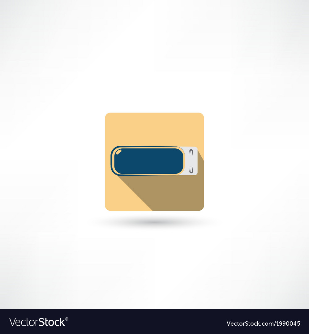 Usb flash drive icon vector | Price: 1 Credit (USD $1)