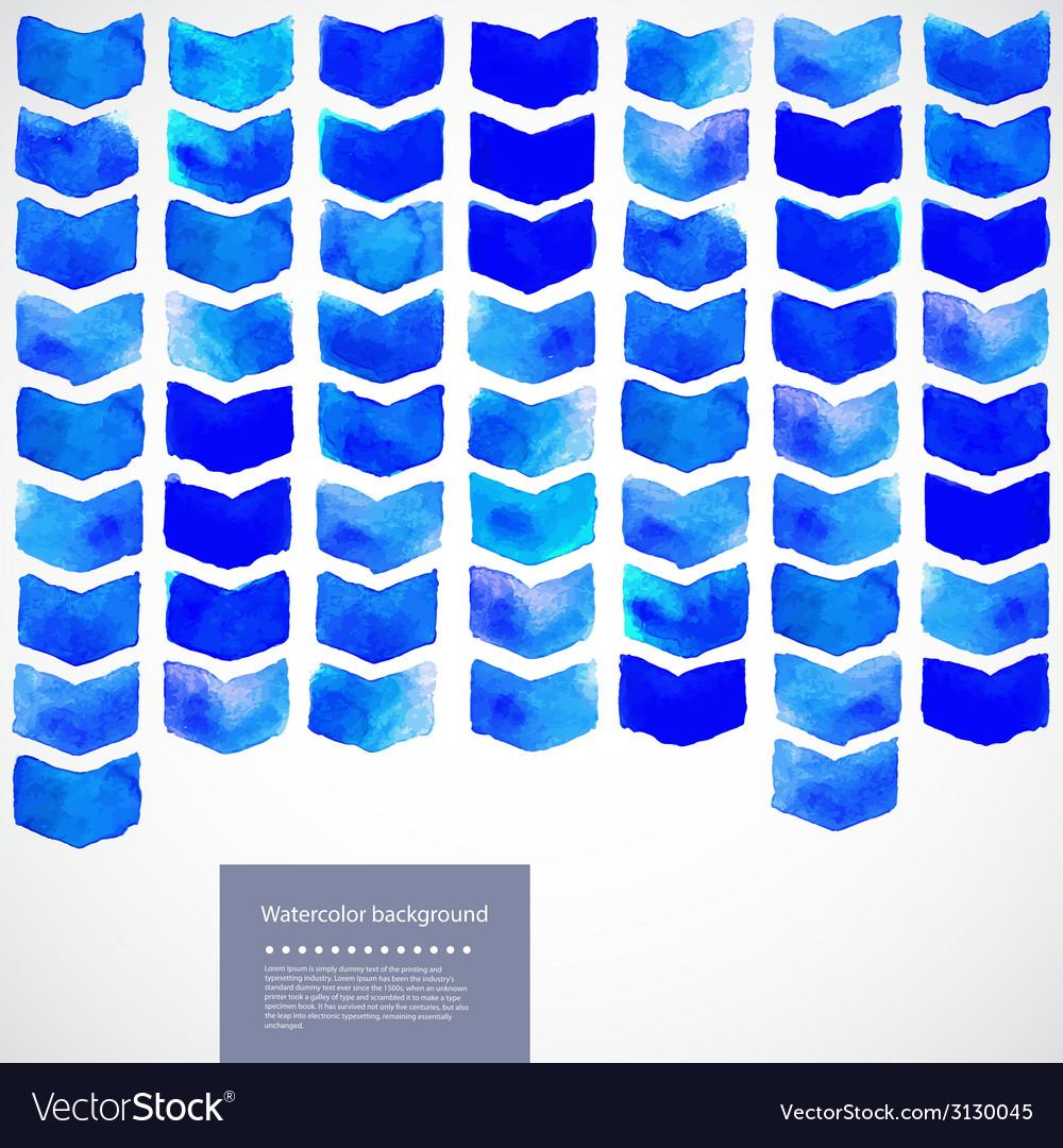 Watercolor geometric vector | Price: 1 Credit (USD $1)
