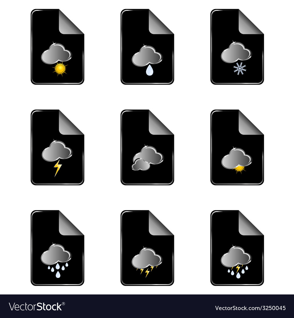 Weather icon color vector | Price: 1 Credit (USD $1)