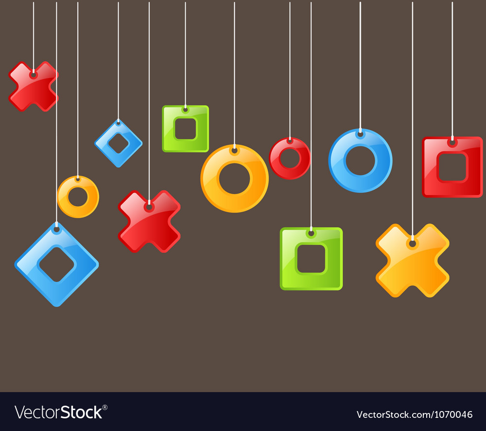 Abstract figures on rope vector   Price: 1 Credit (USD $1)