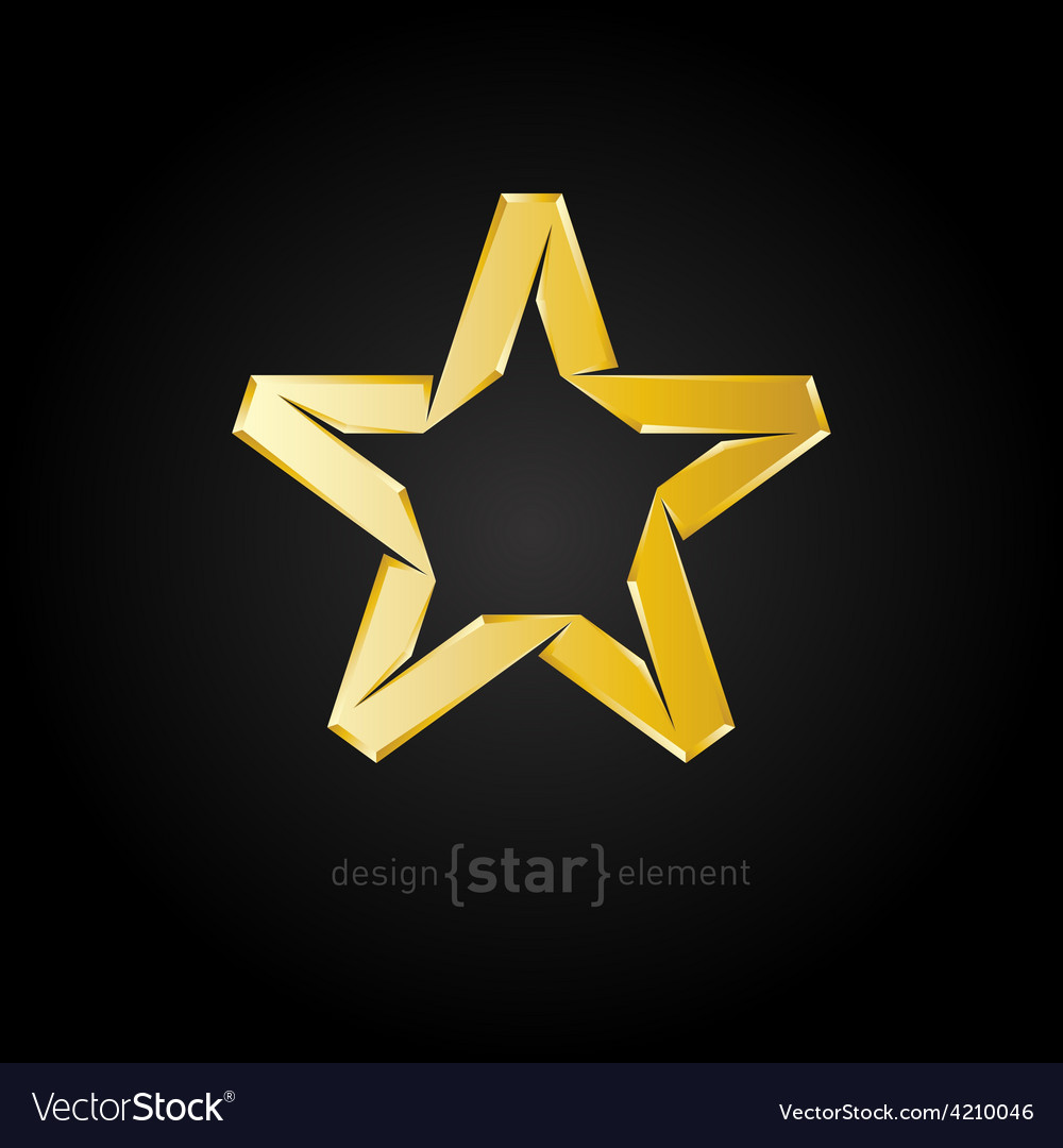 Abstract luxury golden star on black background vector | Price: 1 Credit (USD $1)