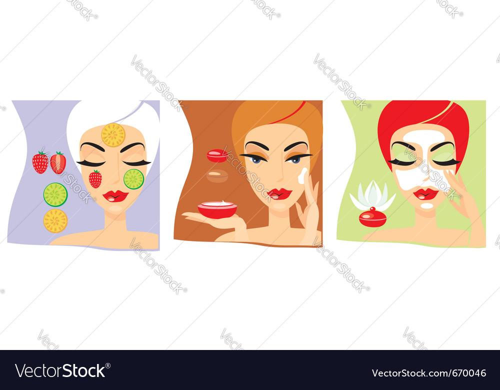 Cosmetology procedures vector | Price: 3 Credit (USD $3)