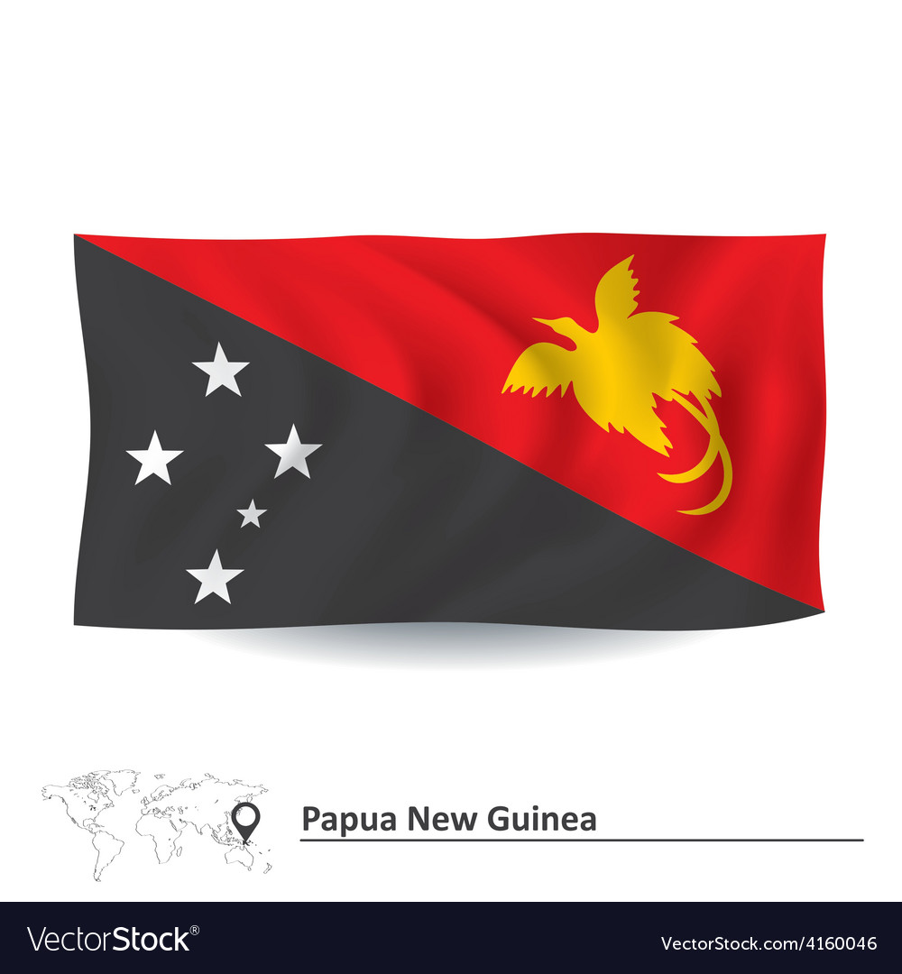 Flag of papua new guinea vector | Price: 1 Credit (USD $1)