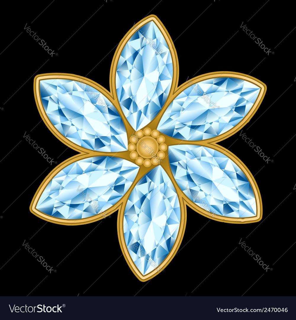 Flower gemstone composition vector | Price: 1 Credit (USD $1)