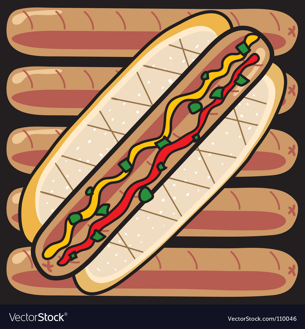 Grilled hot dogs vector | Price: 1 Credit (USD $1)