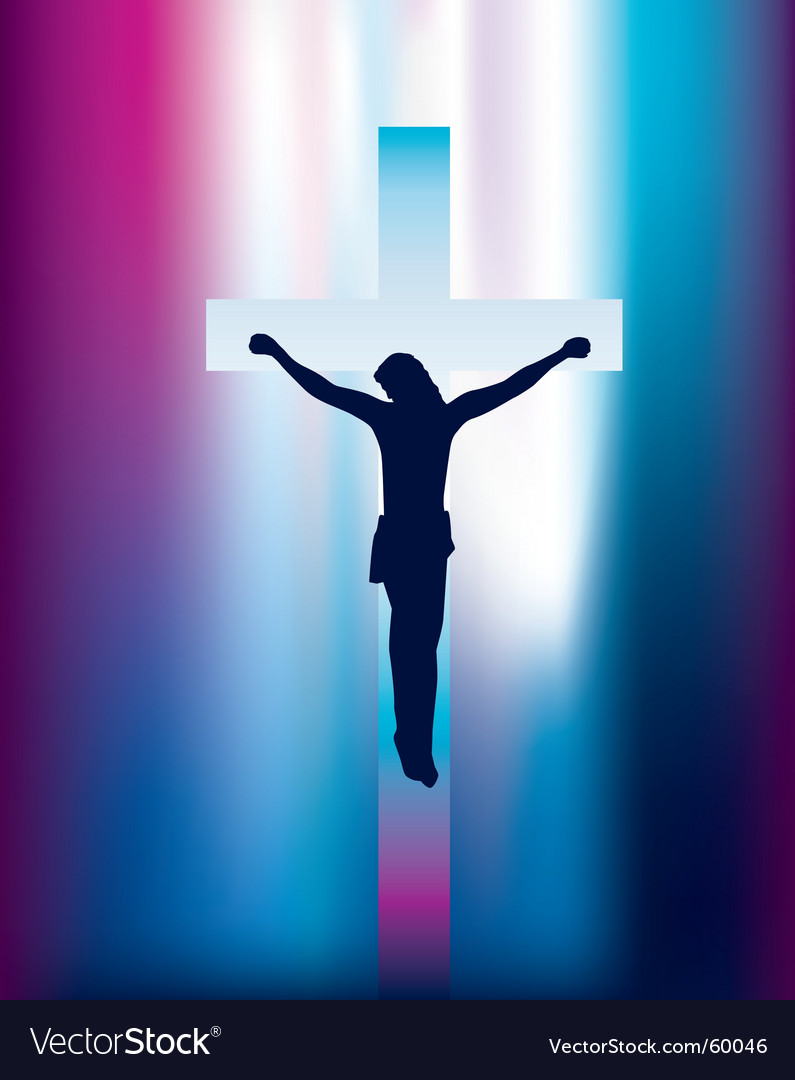 Jesus on cross vector | Price: 1 Credit (USD $1)
