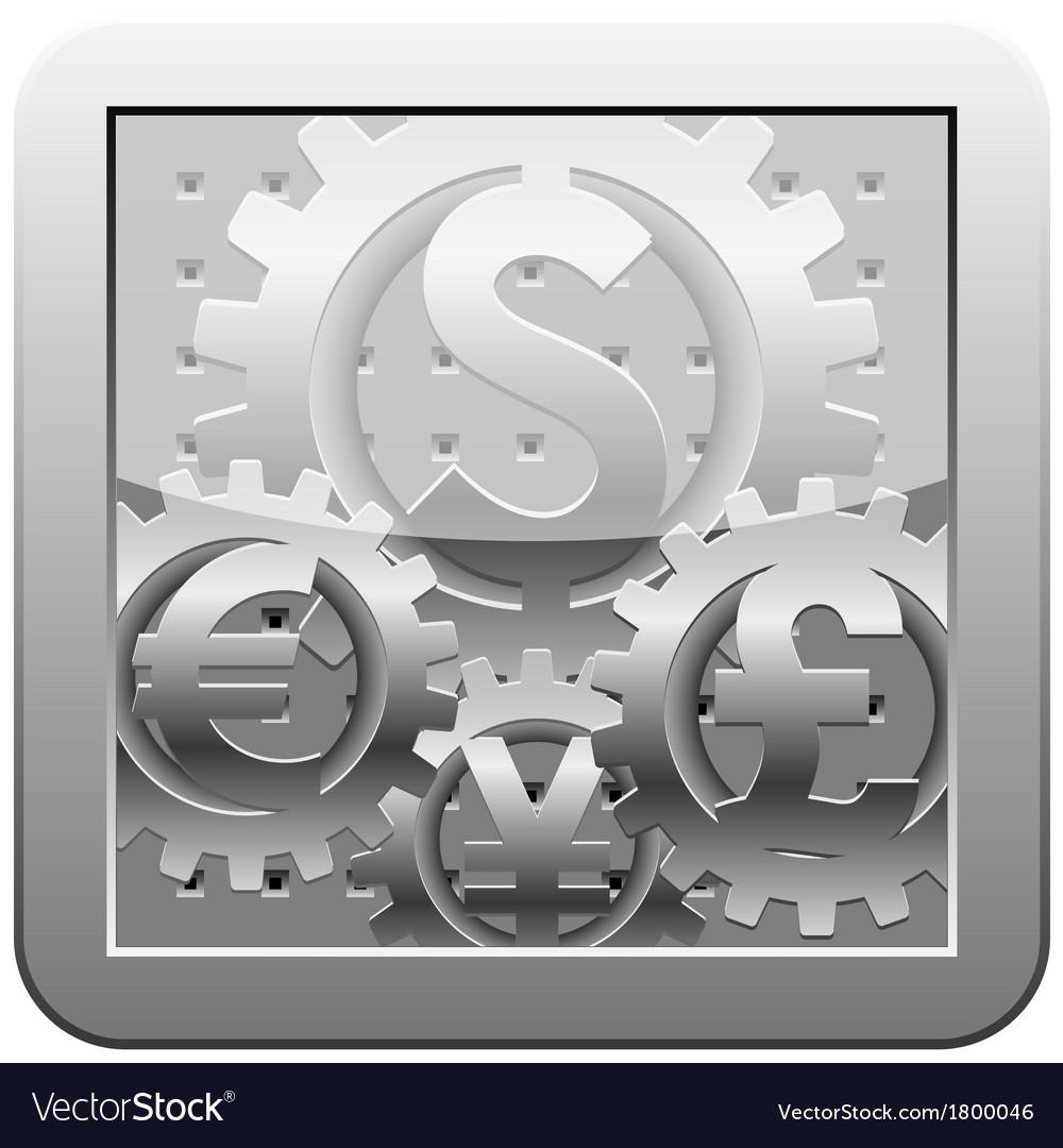 Money gears vector | Price: 1 Credit (USD $1)