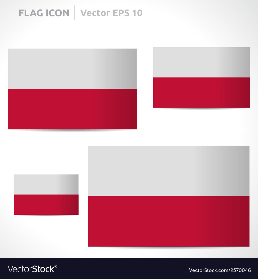 Poland flag template vector | Price: 1 Credit (USD $1)