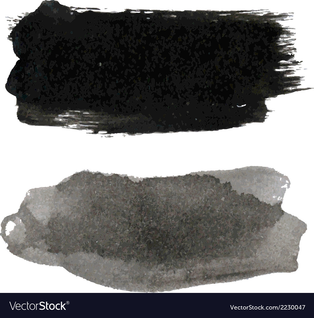 Black blots set vector | Price: 1 Credit (USD $1)