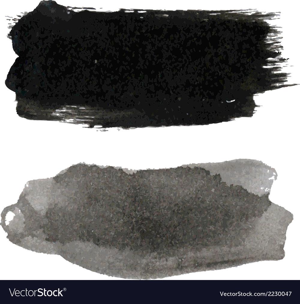 Black blots set vector | Price: 1 Credit (USD $1)