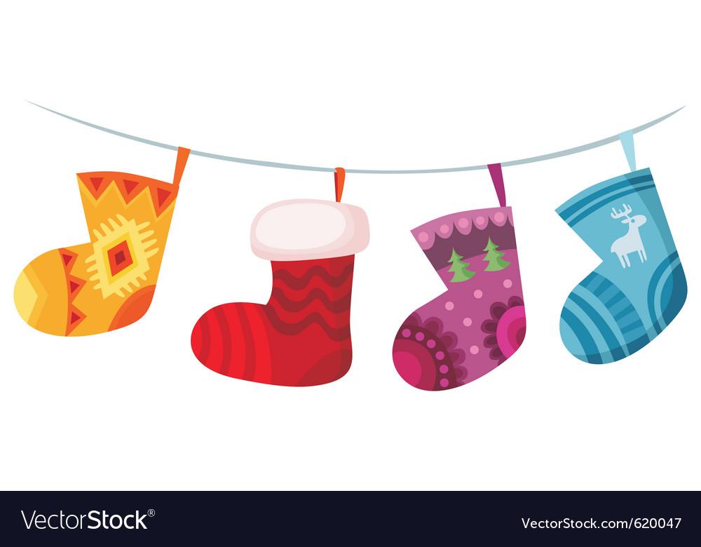 Christmas stockings vector | Price: 1 Credit (USD $1)